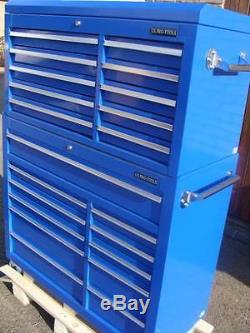 05 US PRO Tools Blue Steel Chest Box Snap Up cabinet tool box FINANCE AVAILABLE