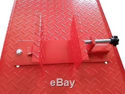 1000lb Hydraulic Bike Motorcycle motorbike Workshop Lift Bench workbench XL Red