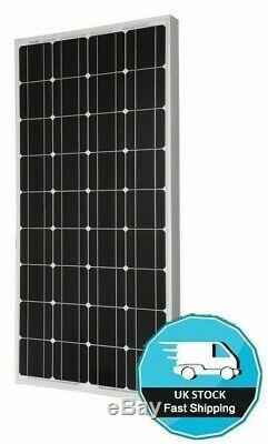 100 WATT MOTORHOME CAMPER VAN CARAVAN SOLAR PANEL FULL KIT LED controller 100w