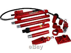 10 Ton Porta Power Hydraulic Jack Body Frame Repair Kit Auto Car Tool Heavy Set