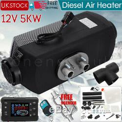 12V 5000W LCD Monitor Air diesel Fuel Heater 5KW PLANAR for Trucks Bus Boats Car