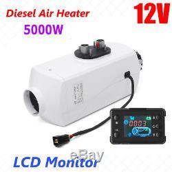 12V 5000W LCD Monitor Air diesel Fuel Heater PLANAR for trucks, boats, bus, Car NEW