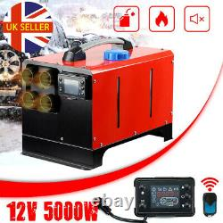 12V 5KW Diesel Air Night Heater 4 Holes LCD Monitor Remote Trucks Boats Car home