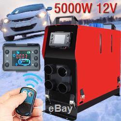 12V Air Diesel Heater 5KW 4 Holes LCD Monitor PLANAR For Trucks Boats Bus Car UK