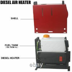 12V Air Diesel Night Heater 5KW 4 Holes LCD Monitor Remote Trucks Boats Car home