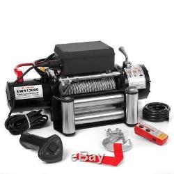 12V Elektrische Seilwinde 5909 KG Motorwinde Offroad 12 Volt + Funkfernbedienung