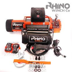 12v 4x4 Electric Recovery Rhino Winch 13500lb Two Remotes (Not 13000lb)