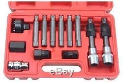 13 Pc Alternator Freewheel Pulley Removal Socket Bit Set Garage Service Tool Kit