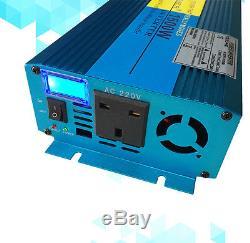 1500W 3000W Caravan Converter Pure Sine Wave Power Inverter DC 12V to AC 240V UK