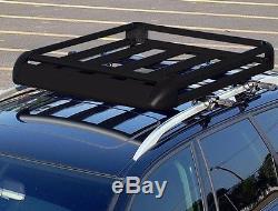 160cm Universal Aluminum Car Roof Rack Basket Cargo Luggage Carrier Bar BLACK