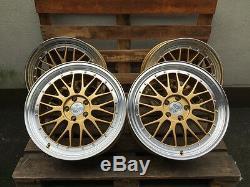 19 Zoll UA3 Felgen 5x112 et45 Gold poliert Gutachten GTI S-Line R S TT Le Mans R