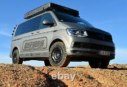 1x Allterrain Offroad Felge für VW T5 T6 8x17 ET40 schwarz mat Twin Monotube Pro