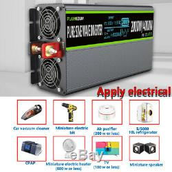 2000With4000W Pure Sine Wave Power Inverter 12V To 240V Solar Converter LCD Remote