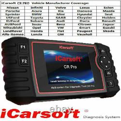 2021 LATEST iCarsoft CR Pro Full Systems Diagnostic Scanner Tool For All Makes
