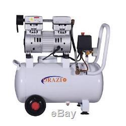 241184 ORAZIO Low Noise Oilless Silent 24L Air Compressor 750W Garage Clinic