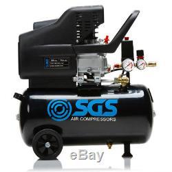 24 Litre Air Compressor & Tool Kit 9.6 CFM, 2.5 HP