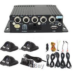 27Pcs 4CH Car Digital DVR Camera Security Video Recorder SD 4 CCD Rear View Kit