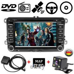 2DIN 7 Autoradio GPS NAVI CD DVD FM für VW Golf Passat B6 3C Touran Skoda Seat