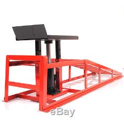 2 Ton Heavy Duty Hydraulic Car Van 4x4 Vehicle Garage Jack Metal Ramp Lift Pair