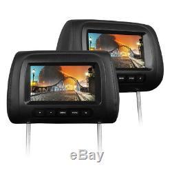2x 17,8 cm LCD TFT 7 Digital Display MONITOR KOPFSTÜTZE FÜR AUTO KFZ DVD DVB-T