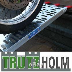 2x Auffahrrampe 340/680 kg Verladerampe Verladeschiene Klappbar Motorrad Rampe