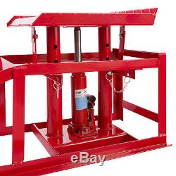 2x PKW Auffahrrampe höhenverstellbar Hebebühne Rampe Auffahrbock Hebeplattform