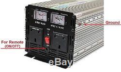 3000W (6000W Peak) POWER INVERTER DC12V-AC240V WITH SOFT START, VOLTAGE DISPLAY