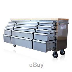 300 Us Pro Tool Chest Box Bench Stainless Steel 72 Finance Available
