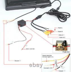 35,6 cm Deckenmonitor 14 TFT LCD MONITOR Flipdown IR Auto KFZ PKW DVD DVBT