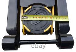 3t Wagenheber Rangierwagenheber Hydraulisch flach 75-500 mm mit Profi PU-Rädern
