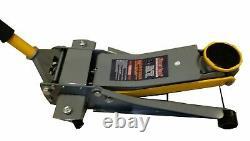 3t low profile trolley jack 75mm-510mm double cylinder rapid pump 3000kg