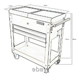 418 Us Pro Tools Tool Cart Trolley Mobile Workstaion Box Gloss Black