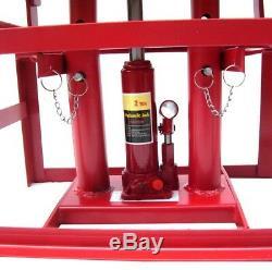 55337 Pair Lifting Car Ramp Jack 2t 2 Heights Hydraulic Adjustable Maintenance R