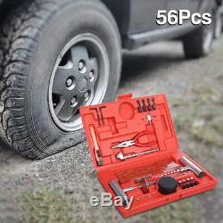 56PCS Car Tyre Puncture Emergency Tire Repair Kit Tools for Car Van Motorcycle A