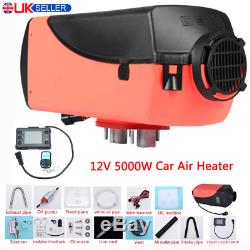 5KW 12V Diesel Air Heater Tank LCD Thermostat Quiet For Truck Boat Car Trailer