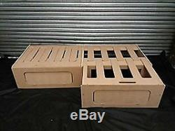 5ft 10in Sliding Camper Motorhome Narrow Boat Self Build Double Bed Seat Storage