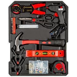 616 Pcs aluminium metal tool box with tools kit storage mobile trolley on wheels