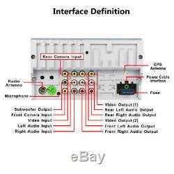 6.2 Double 2 Din In Dash Car CD DVD Player Radio Stereo GPS SAT NAV Rear Camera