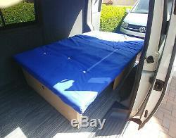 6ft x 4ft Sliding rock and roll camper van bed motorhome, Caddy, Doblo, Vivaro