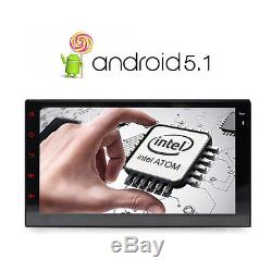 7 Android 5.1 Double 2 DIN Navi Sat Nav Car GPS Stereo DAB+ Radio WiFi Navi