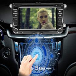 7 Autoradio 2DIN Bluetooth GPS Sat Navi DVD Für VW PASSAT GOLFPOLO Caddy Kamera