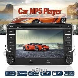 7 Car Stereo Radio DVD Sat Nav GPS Bluetooth For VW Golf MK5 MK6 Jetta Passat