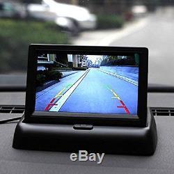 8LED 18.5mm Night Vision Car Reverse Parking Camera + TFT 4.3 Fold-up Screen
