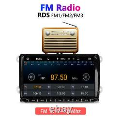 9 Double 2Din Android 10.0 Car Stereo Radio FM MP5 Player Sat Nav GPS BT For VW
