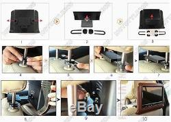 9 Inch Twin Dual 2 X PORTABLE In Car Headrest DVD Player LCD Screen USB SD Game