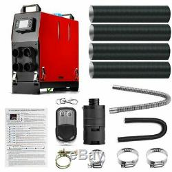 ALL IN ONE 5KW 12V Air Diesel Heater 4 Holes LCD Monitor Remote Trucks Boats Car