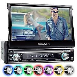 AUTORADIO MIT 18cm HD TOUCHSCREEN VIDEO BILDSCHIRM BLUETOOTH USB SD MP3 AUX 1DIN