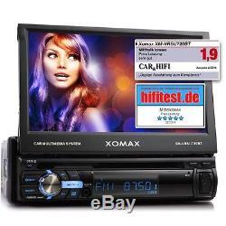 AUTORADIO MIT 7/18cm TOUCHSCREEN BLUETOOTH USB SD MP3 ID3 1DIN VIDEO MONICEIVER