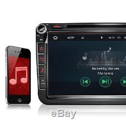 AUTORADIO MIT ANDROID 7.1.1 2GB RAM NAVI DVD USB WiFi PASSEND FÜR VW SEAT SKODA