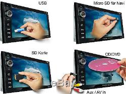 AUTORADIO mit Bildschirm DAB+ Bluetooth 2 Din Doppel DVD USB MP3 Navigation GPS
